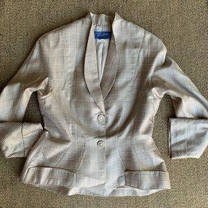 [Thierry Mugler]• Soie silk plaid fitted jacket